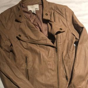Bar lll camel colored leather jacket